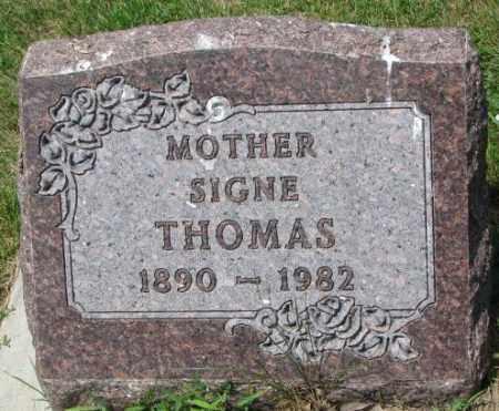 THOMAS, SIGNE - Cedar County, Nebraska | SIGNE THOMAS - Nebraska Gravestone Photos