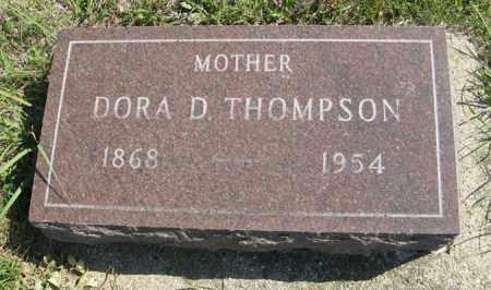THOMPSON, DORA D. - Cedar County, Nebraska | DORA D. THOMPSON - Nebraska Gravestone Photos