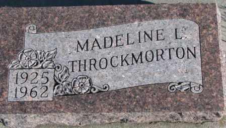 THROCKMORTON, MADELINE L. - Cedar County, Nebraska | MADELINE L. THROCKMORTON - Nebraska Gravestone Photos