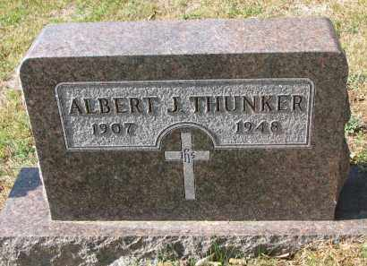 THUNKER, ALBERT J. - Cedar County, Nebraska | ALBERT J. THUNKER - Nebraska Gravestone Photos