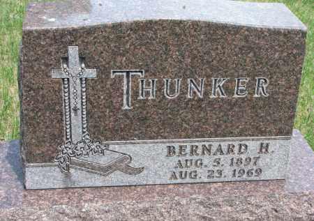 THUNKER, BERNARD H. - Cedar County, Nebraska | BERNARD H. THUNKER - Nebraska Gravestone Photos