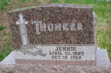 THUNKER, JENNIE - Cedar County, Nebraska | JENNIE THUNKER - Nebraska Gravestone Photos