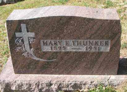 THUNKER, MARY E. - Cedar County, Nebraska | MARY E. THUNKER - Nebraska Gravestone Photos