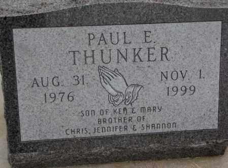 THUNKER, PAUL E. - Cedar County, Nebraska | PAUL E. THUNKER - Nebraska Gravestone Photos