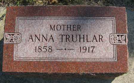 TRUHLAR, ANNA - Cedar County, Nebraska   ANNA TRUHLAR - Nebraska Gravestone Photos