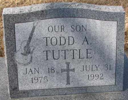 TUTTLE, TODD A. - Cedar County, Nebraska | TODD A. TUTTLE - Nebraska Gravestone Photos