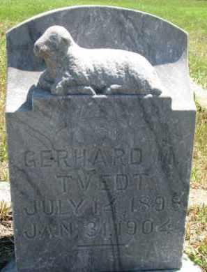 TVEDT, GERHARD M. - Cedar County, Nebraska | GERHARD M. TVEDT - Nebraska Gravestone Photos