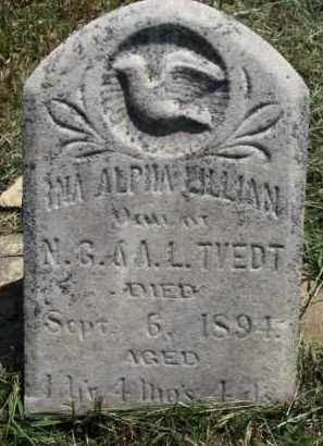 TVEDT, INA ALPHA LILLIAN - Cedar County, Nebraska | INA ALPHA LILLIAN TVEDT - Nebraska Gravestone Photos