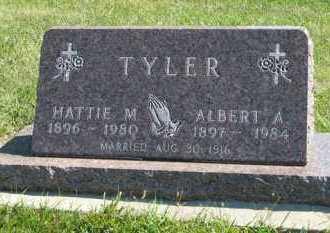 TYLER, ALBERT A. - Cedar County, Nebraska | ALBERT A. TYLER - Nebraska Gravestone Photos