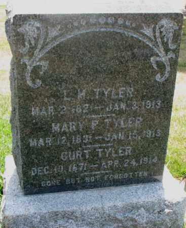 TYLER, L.M. - Cedar County, Nebraska   L.M. TYLER - Nebraska Gravestone Photos