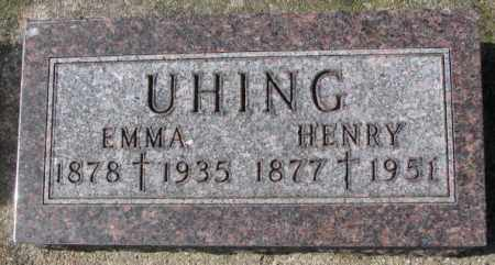 UHING, EMMA - Cedar County, Nebraska | EMMA UHING - Nebraska Gravestone Photos