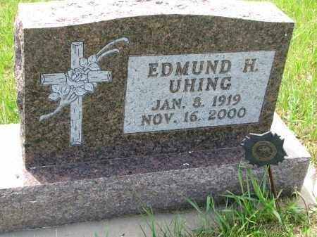 UHING, EDMUND H. - Cedar County, Nebraska | EDMUND H. UHING - Nebraska Gravestone Photos