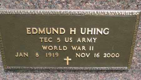 UHING, EDMUND H. (WW II) - Cedar County, Nebraska | EDMUND H. (WW II) UHING - Nebraska Gravestone Photos