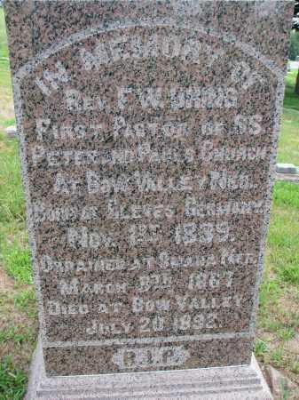 UHING, F.W. (CLOSEUP) - Cedar County, Nebraska | F.W. (CLOSEUP) UHING - Nebraska Gravestone Photos