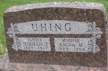 UHING, HERMAN J. - Cedar County, Nebraska | HERMAN J. UHING - Nebraska Gravestone Photos