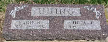UHING, JULIA J. - Cedar County, Nebraska | JULIA J. UHING - Nebraska Gravestone Photos