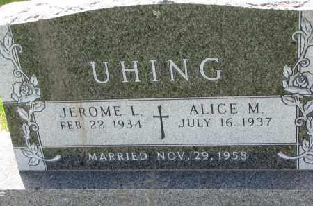 UHING, JEROME L. - Cedar County, Nebraska | JEROME L. UHING - Nebraska Gravestone Photos