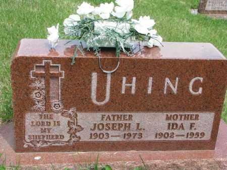 UHING, IDA F. - Cedar County, Nebraska | IDA F. UHING - Nebraska Gravestone Photos