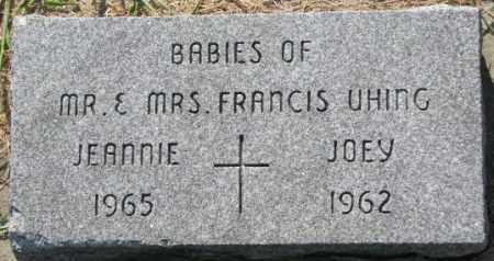 UHING, JOEY - Cedar County, Nebraska | JOEY UHING - Nebraska Gravestone Photos