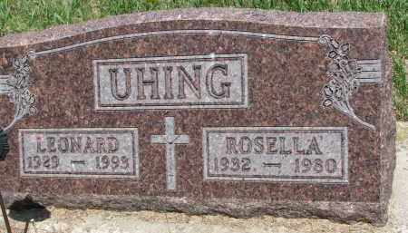 UHING, LEONARD - Cedar County, Nebraska | LEONARD UHING - Nebraska Gravestone Photos