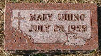 UHING, MARY - Cedar County, Nebraska | MARY UHING - Nebraska Gravestone Photos