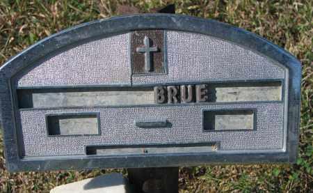 UNKNOWN, BRUE....... - Cedar County, Nebraska | BRUE....... UNKNOWN - Nebraska Gravestone Photos