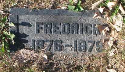UNKNOWN, FREDRICK - Cedar County, Nebraska | FREDRICK UNKNOWN - Nebraska Gravestone Photos
