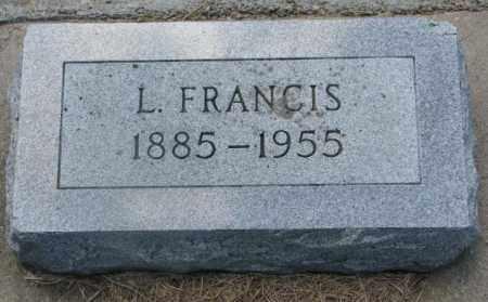 UNKNOWN, L. FRANCIS - Cedar County, Nebraska   L. FRANCIS UNKNOWN - Nebraska Gravestone Photos