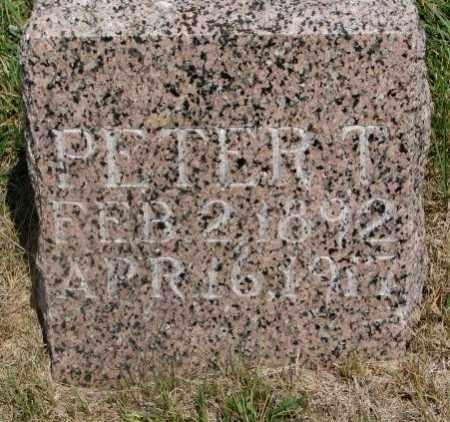 UNKNOWN, PETER T. - Cedar County, Nebraska | PETER T. UNKNOWN - Nebraska Gravestone Photos
