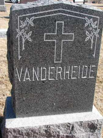 VANDERHEIDE, FAMILY STONE - Cedar County, Nebraska | FAMILY STONE VANDERHEIDE - Nebraska Gravestone Photos
