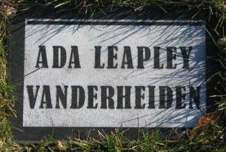LEAPLEY VANDERHEIDEN, ADA - Cedar County, Nebraska | ADA LEAPLEY VANDERHEIDEN - Nebraska Gravestone Photos