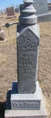 VANDORN, GUY THOMAS - Cedar County, Nebraska   GUY THOMAS VANDORN - Nebraska Gravestone Photos