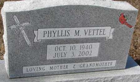 VETTEL, PHYLLIS M. - Cedar County, Nebraska | PHYLLIS M. VETTEL - Nebraska Gravestone Photos