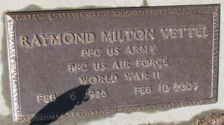 VETTEL, RAYMOND MILTON (WW II) - Cedar County, Nebraska | RAYMOND MILTON (WW II) VETTEL - Nebraska Gravestone Photos