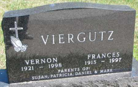 VIERGUTZ, FRANCES - Cedar County, Nebraska | FRANCES VIERGUTZ - Nebraska Gravestone Photos