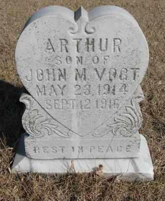 VOGT, ARTHUR - Cedar County, Nebraska | ARTHUR VOGT - Nebraska Gravestone Photos