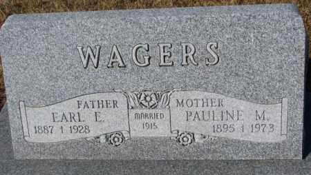 WAGERS, PAULINE M. - Cedar County, Nebraska | PAULINE M. WAGERS - Nebraska Gravestone Photos