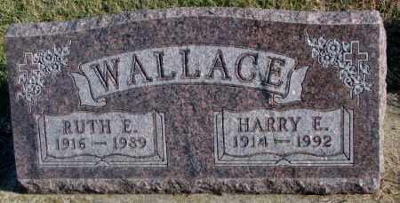 WALLACE, RUTH E. - Cedar County, Nebraska | RUTH E. WALLACE - Nebraska Gravestone Photos