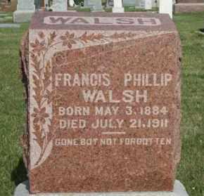 WALSH, FRANCIS PHILLIP - Cedar County, Nebraska | FRANCIS PHILLIP WALSH - Nebraska Gravestone Photos