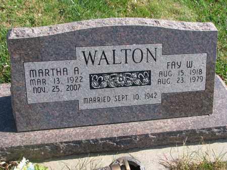 WALTON, FAY W. - Cedar County, Nebraska | FAY W. WALTON - Nebraska Gravestone Photos