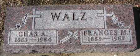 WALZ, FRANCES M. - Cedar County, Nebraska | FRANCES M. WALZ - Nebraska Gravestone Photos