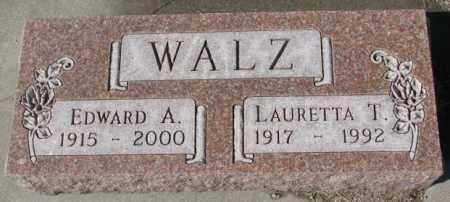 WALZ, EDWARD A. - Cedar County, Nebraska | EDWARD A. WALZ - Nebraska Gravestone Photos