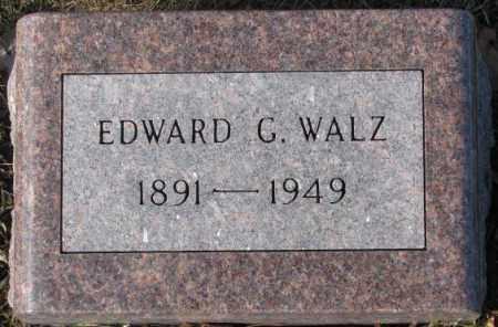 WALZ, EDWARD G. - Cedar County, Nebraska   EDWARD G. WALZ - Nebraska Gravestone Photos
