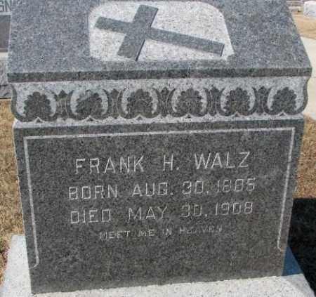 WALZ, FRANK H. - Cedar County, Nebraska   FRANK H. WALZ - Nebraska Gravestone Photos