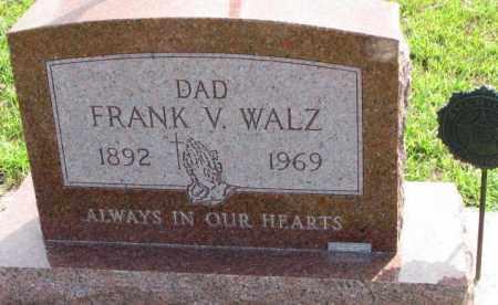 WALZ, FRANK V. - Cedar County, Nebraska | FRANK V. WALZ - Nebraska Gravestone Photos
