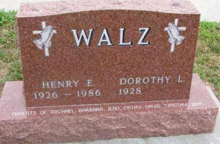 WALZ, HENRY E. - Cedar County, Nebraska | HENRY E. WALZ - Nebraska Gravestone Photos