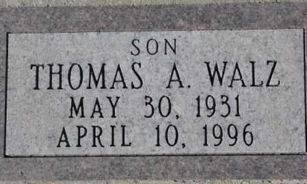 WALZ, THOMAS A. - Cedar County, Nebraska   THOMAS A. WALZ - Nebraska Gravestone Photos