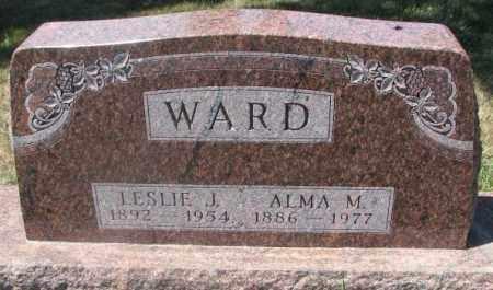 WARD, LESLIE J. - Cedar County, Nebraska   LESLIE J. WARD - Nebraska Gravestone Photos