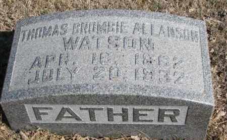 WATSON, THOMAS BRUMBIE ALLANSON - Cedar County, Nebraska   THOMAS BRUMBIE ALLANSON WATSON - Nebraska Gravestone Photos