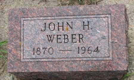 WEBER, JOHN H. - Cedar County, Nebraska | JOHN H. WEBER - Nebraska Gravestone Photos